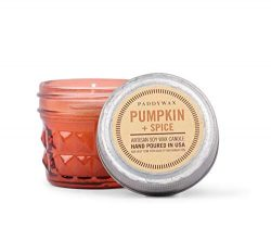 Paddywax Candles Relish Collection Scented Soy Wax Blend Jar Candle, 3-Ounce, Pumpkin + Spice