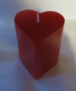 Valentine's Day Red Heart Pillar Candle