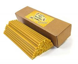 Natural Pure Beeswax Candles Organic Honey Eco Candles (Natural Cotton Wicks, Dripless, Smokeles ...