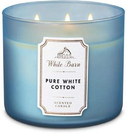 White Barn by Bath & Body Works 3-Wick Scented Candle in Pure White Cotton (2019)