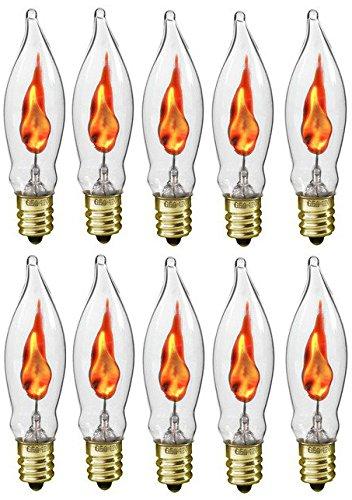 creative hobbies a101 flicker flame light bulb 3 watt 130 volt e12 candelabra base flame. Black Bedroom Furniture Sets. Home Design Ideas