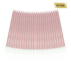 Aplusplanet 24 Count Pink Birthday Candles, Metallic Long Thin Pink Cake Candles in Holders for  ...