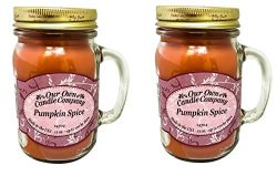 13oz PUMPKIN SPICE Scented Jar Candle (2 pack)
