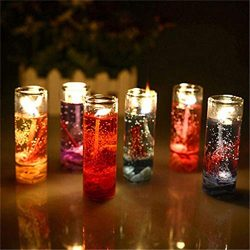 SUNBIBE12Pc Ocean Candle Transparent Crystal Glass Bottles Aromatherapy Smokeless Jelly Wax Wedd ...
