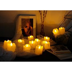 Candle Choice Flameless Candles Flickering Led Votive Candles Battery Operated, 12 Pack (Melted/ ...