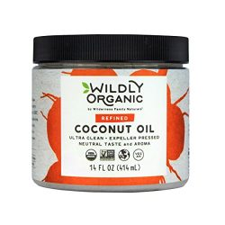 Wildly Organic Coconut Oil Refined (No Coconut Flavor or Scent, Expeller Pressed), Non-GMO, 14 FL OZ