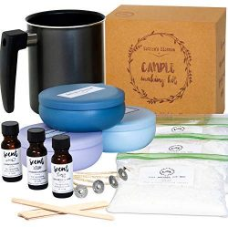 Nature's Blossom Candle Making Kit – DIY Starter Set Create Premium Large Scented Ca ...
