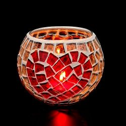 US Fast Shipment Tuscom Handmade Mosaic Glass Candlestick,for Wedding Coffee Table Decoration Or ...