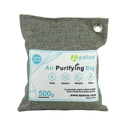 Apalus Natural Air Purifying Bag. Dehumidifier, Odor Eliminator for Cars, Closets, Bathrooms and ...