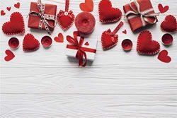 Yeele Christmas Photography Background 12x8ft Gift Box Heart-Shaped Decoration Red Candle Celebr ...