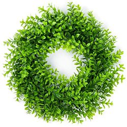 17″ Eucalyptus Wreath,Artificial Eucalyptus Leaves Wreath Greenery Wreath Spring Front Doo ...