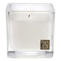 Aromatique Glass Cube Candle, Smell of Spring, 12 Ounces