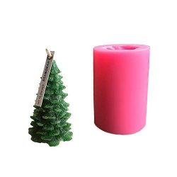 DGQ Silicone Christmas Pine Tree Candle Molds DIY Baking Molds Soap Molds Candle Making Supplies ...