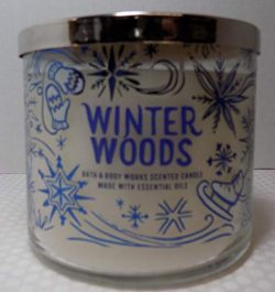 Bath and Body Works Winter Woods Scented 3 Wick Candle 14.5 oz (cedarwood, cashmere musk, and va ...