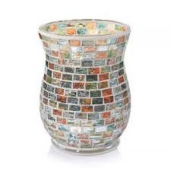 Yankee Candle Havana Glass Mosaic Hurricane Jar Candle Holder