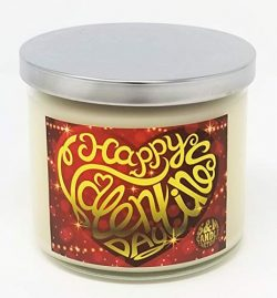 S&M Candle Factory Red Velvet Cupcake Candle ~ Happy Valentine's Day Candle Soy Wax Ca ...