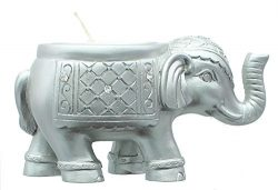 Good Luck Silver Indian Elephant Candle Holder. Size Is 3 3/4″ X 1 3/4″ Tall.