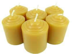 100% Pure USA Beeswax 10 Hour Votive (Box of 6)