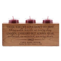LifeSong Milestones Personalized Those Who We Love Don't Go Away Memorial Sympathy Candle  ...
