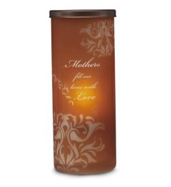 Simply Stated by Pavilion 6-Inch Cylinder Amber Candle Holder, Mother Sentiment