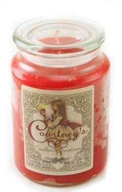 Courtney's Candles Cranberry Orange Spice Maximum Scented 26oz Large Jar Candle – Bu ...