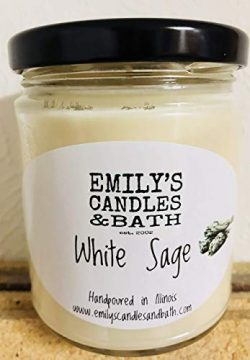 10 Oz. 100% Soy Jar Candle White Sage Scent