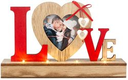 LOVE LED PICTURE FRAME FOR MOTHER'S DAY, ANNIVERSARY, WEDDINGS, WOMEN GIFTS FOR BIRTHDAY-  ...