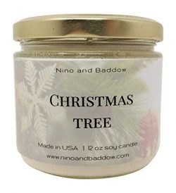 Christmas Tree Soy Wax Candles by Nino and Baddow – Candle Scented with Essential Oils Ble ...