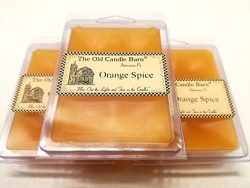 Old Candle Barn Orange Spice Wax Melts Set of 3 (6-Cube Pack) Hand Poured