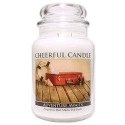 A Cheerful Giver Adventure Moments Jar Candle, 24 oz, Off White