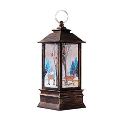 Amaping Christmas LED Candle Portable Hanging Light for Christmas Tree Snow Flake Flower Printed ...