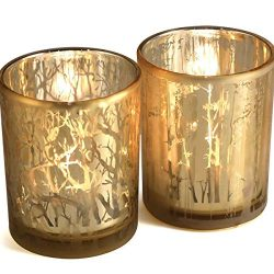 lEPECQ Gold Votive Candle Holders, Large Size Candle Holders Gift Set, Valentine's Day Cof ...