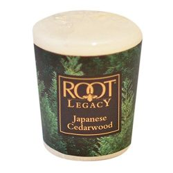 Root Candles Natural Beeswax Scented Votive – Japanese Cedarwood