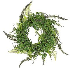 Spring and Summer Multi-Fern Vine Wreath or Candle Ring 14″