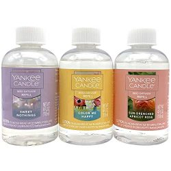 Yankee Candle Spring Favorites 3-Pack Reed Diffuser Oil Refills (Sweet Nothings, Color Me Happy, ...