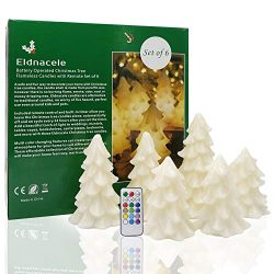 DDXJ Flameless Flickering Candles Christmas Tree Set of 6 Ivory Decoration Lights Christmas Tree ...