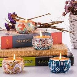 Abarli Scented Candles Gift Set Kitchen Candle 100% Soy Wax for Stress Relief and Aromatherapy,  ...