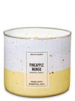White Barn Bath & Body Works 3 Wick Candle Pineapple Mango