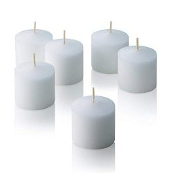 YUCH White Votive Candles – Box of 72 Unscented Candles – 6 Hour Burn Time – B ...
