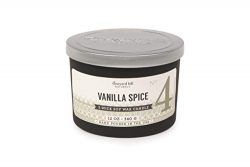 Paddywax Candles Matte Black Letterpress 3-Wick Scented Candle 12-Ounce Vanilla Spice