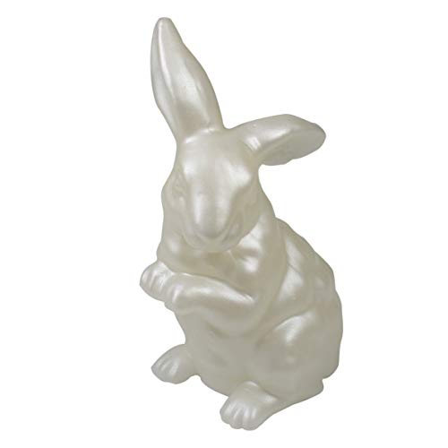 CANDLE CHOICE Handmade Real Wax Bunny Battery Operated LED Candle Light with Timer Long Ear Sitt ...