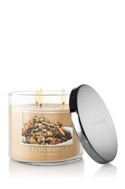 Bath & Body Works Slatkin and Co – 3 Wick Scented 14.5 oz Candle – KITCHEN SPICE