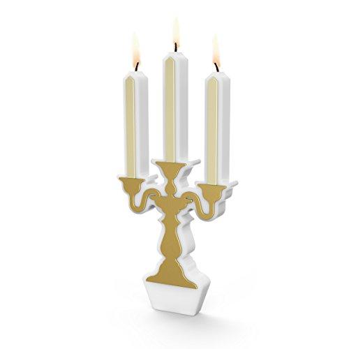 Fred 5216568 BIRTHDAY CANDELABRA 3-Wick Wax Celebration Candle, 5-Inch, Set of 4