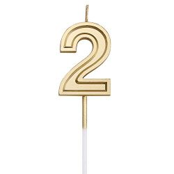 URAQT Birthday Candles Numbers, Gold Glitter Birthday Numeral Candles for Birthdays, Weddings, R ...