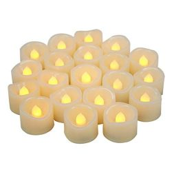 Battery Operated Flameless LED Votive Candles Long Lasting Realistic Flickering Electric Fake Te ...