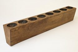 8 Hole Rustic Wooden Sugarmold-Mold Only-Solid Wood-Candleholder