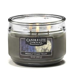 Candle-Lite Everyday Scented Moonlit Starry Night 3-Wick Jar Candle 10 oz. Gray