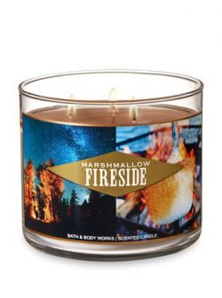 Bath & Body Works Marshmallow Fireside scented 3 wick candle