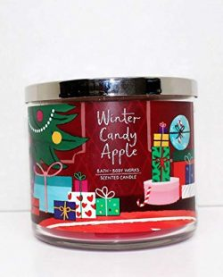 Bath & Body Works 3-Wick WINTER CANDY APPLE Scented Candle (Winter 2018)