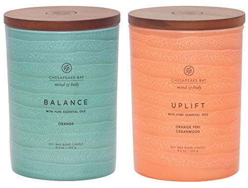 Chesapeake Bay Candle Mind & Body Serenity Scented Candle, Balance with Pure Essential Oils  ...